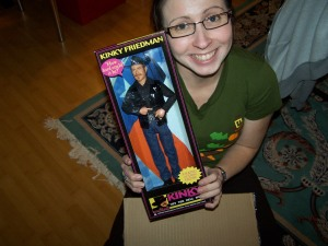 what every girl wishes for a Kinky Freedman for Governor Action Figure